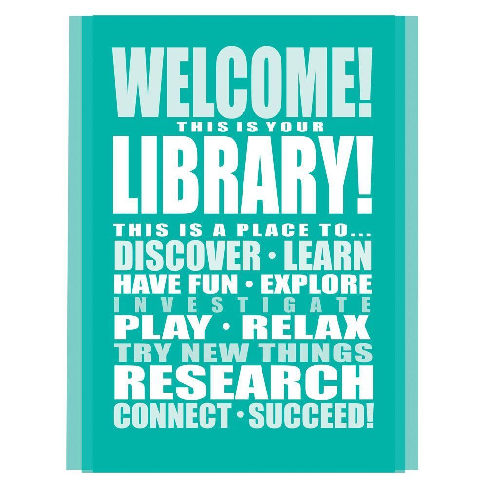 486e3d6b0b5c Welcome! This Is Your Library! Laminated Poster Pack | Positive ...