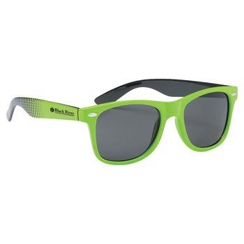 40b9e20344e Two-Tone Dot Malibu Sunglasses - Personalization Available