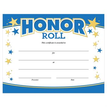 ab honor roll certificate printable